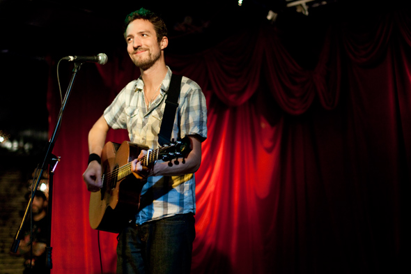 (An image I shot of Frank at the El Mocambo back in 2011. Check out the other images and my review of the show here:  http://www.blogto.com/music/2011/04/frank_turner_gets_the_el_mocambo_singing_along/ )