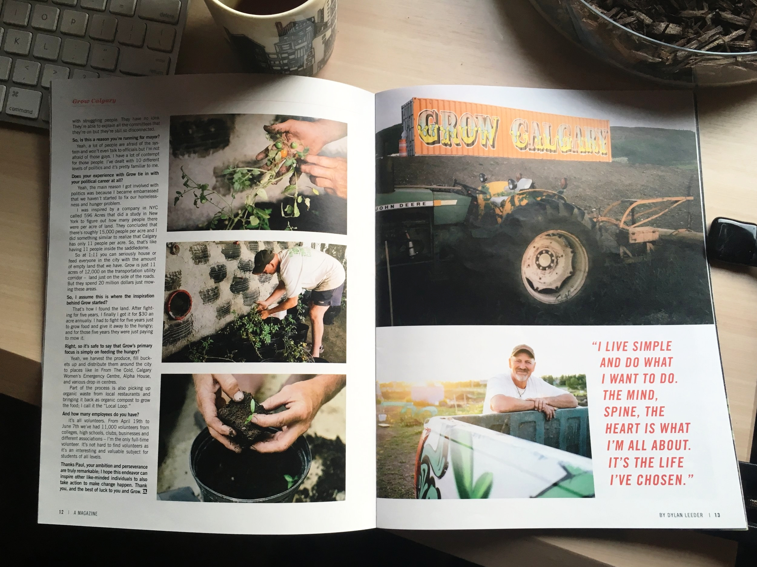 1 of 2 Grow spreads in the upcoming magazine.