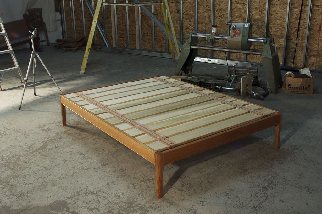 White Oak Platform Bed Frame