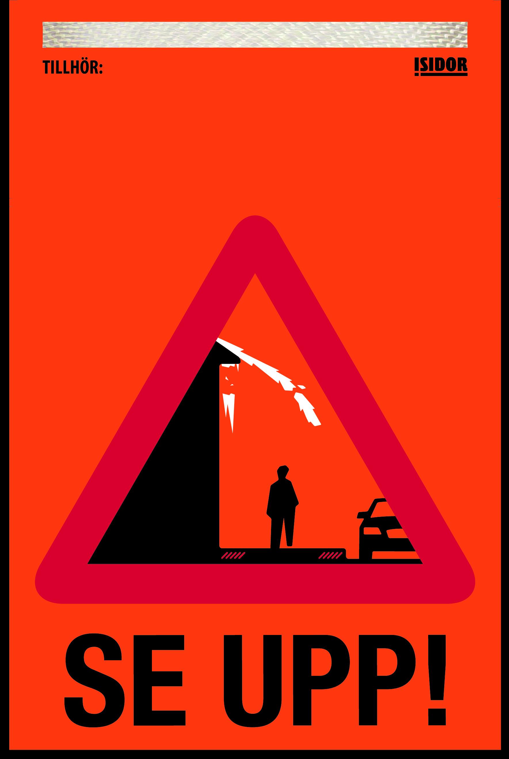 Flagga för snö- och israsvarning