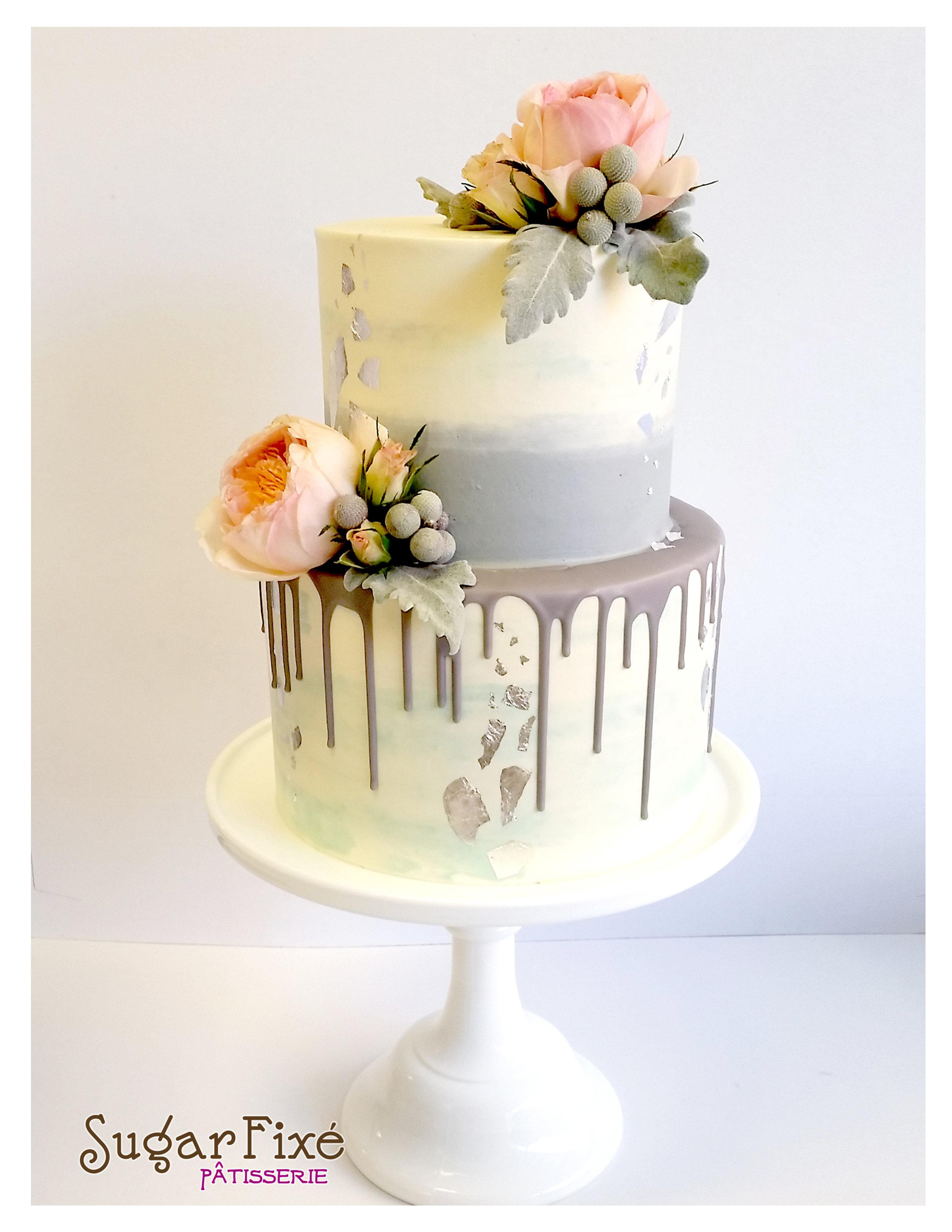 2 tier ombre drip buttercream cake.jpg