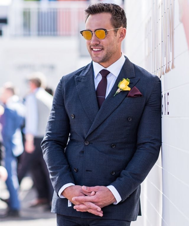 Matt @mattywilson at Melbourne Cup in @louisvuitton 💥  Image : @the.tailored.man @martenascenzo  #mattwilson #melbournecup #louisvuitton