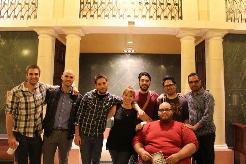 (front): Eric Adrian Marshall, John Berardo,Maury Shessel, Victoria Rose, Adam Tyree (back): Faisal Attrache, Mark Manalo, Kaushik Sampath