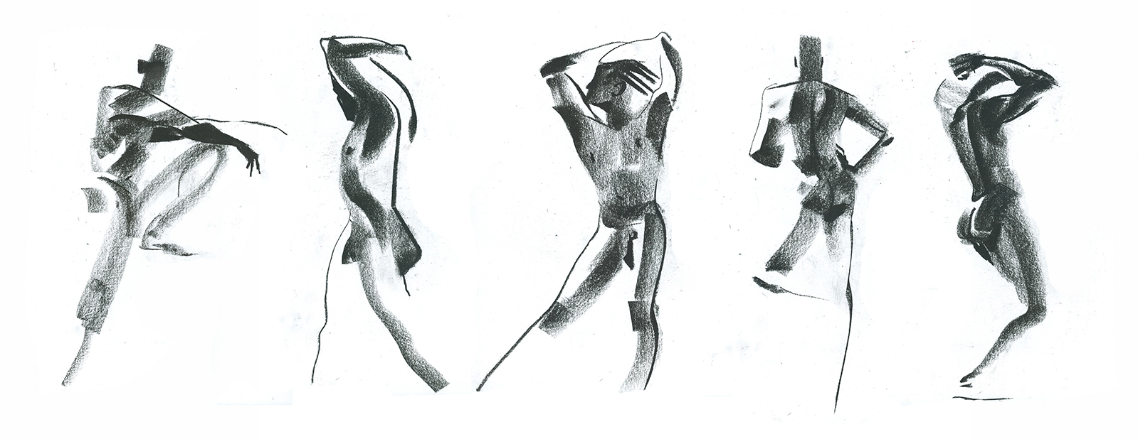 Charcoal, 3 min poses