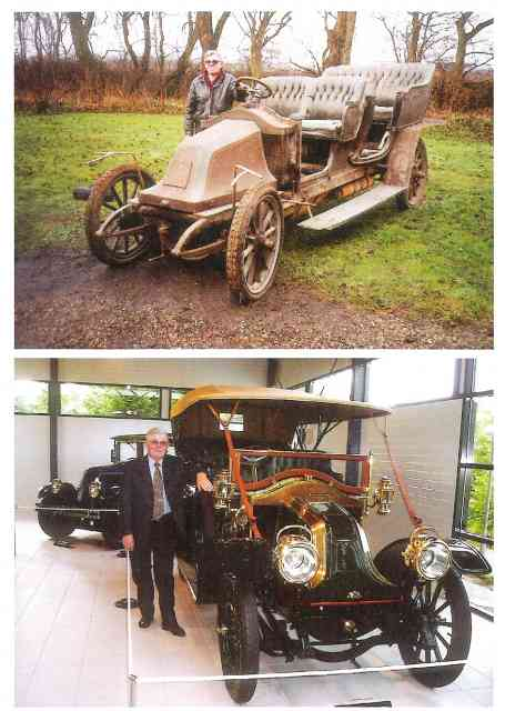 Bilen som den så ud før og efter den særdeles omfattende restaurering.
