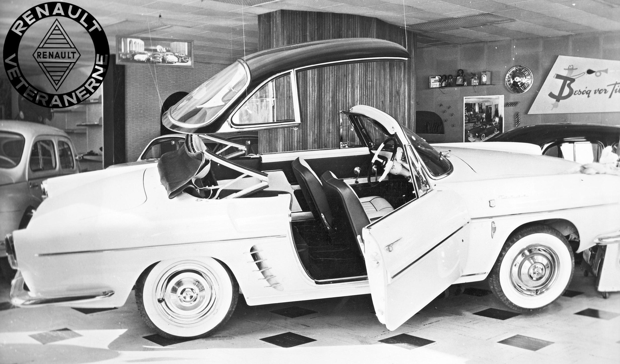 Den unge Vagn Gjerlang fra BH-auto på HC Andersens Boulevard var med til åbningen af biludstillingen i Paris i 1959 – hvor Renault havde præsentation af to nye modeller.Ud over den nye varebil Stafette – var næsten alt fokus rettet mod den nye sportsvogn FLORIDE. Gjerlang var begejstret. Og da de første Florider kom til Danmark tidligt i 1960 lavede BH-Auto en efter tiden meget særpræget udstilling hvor Vagn havde fået hardtoppen til at køre op og ned.