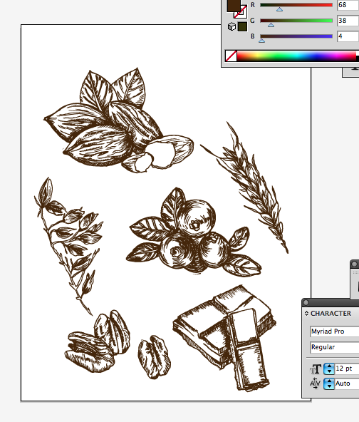 Editing some hand drawn illustrations for a freelance project, its nice to go back to doing pen on paper sometimes....