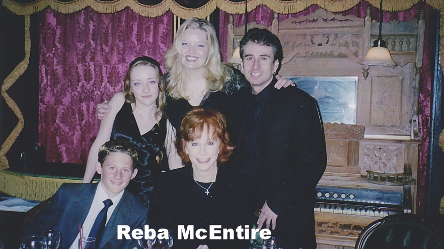 Reba McEntire with Lou Serrano at the Magic Castle