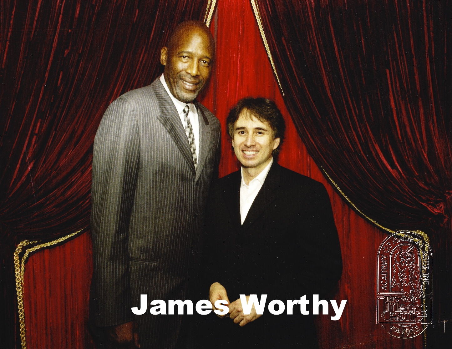 James Worthy with Magic Castle magician, Lou Serrano