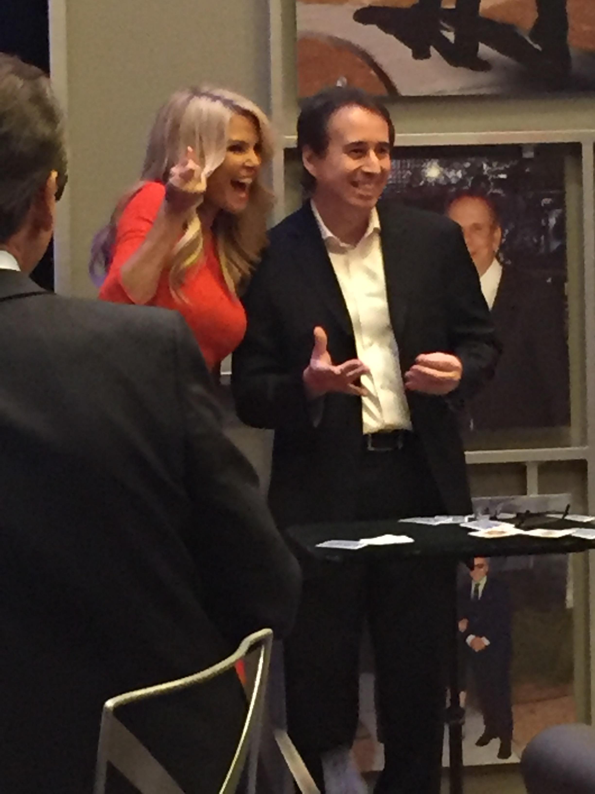 Christie Brinkley with magician Lou Serrano in Las Vegas 2016.