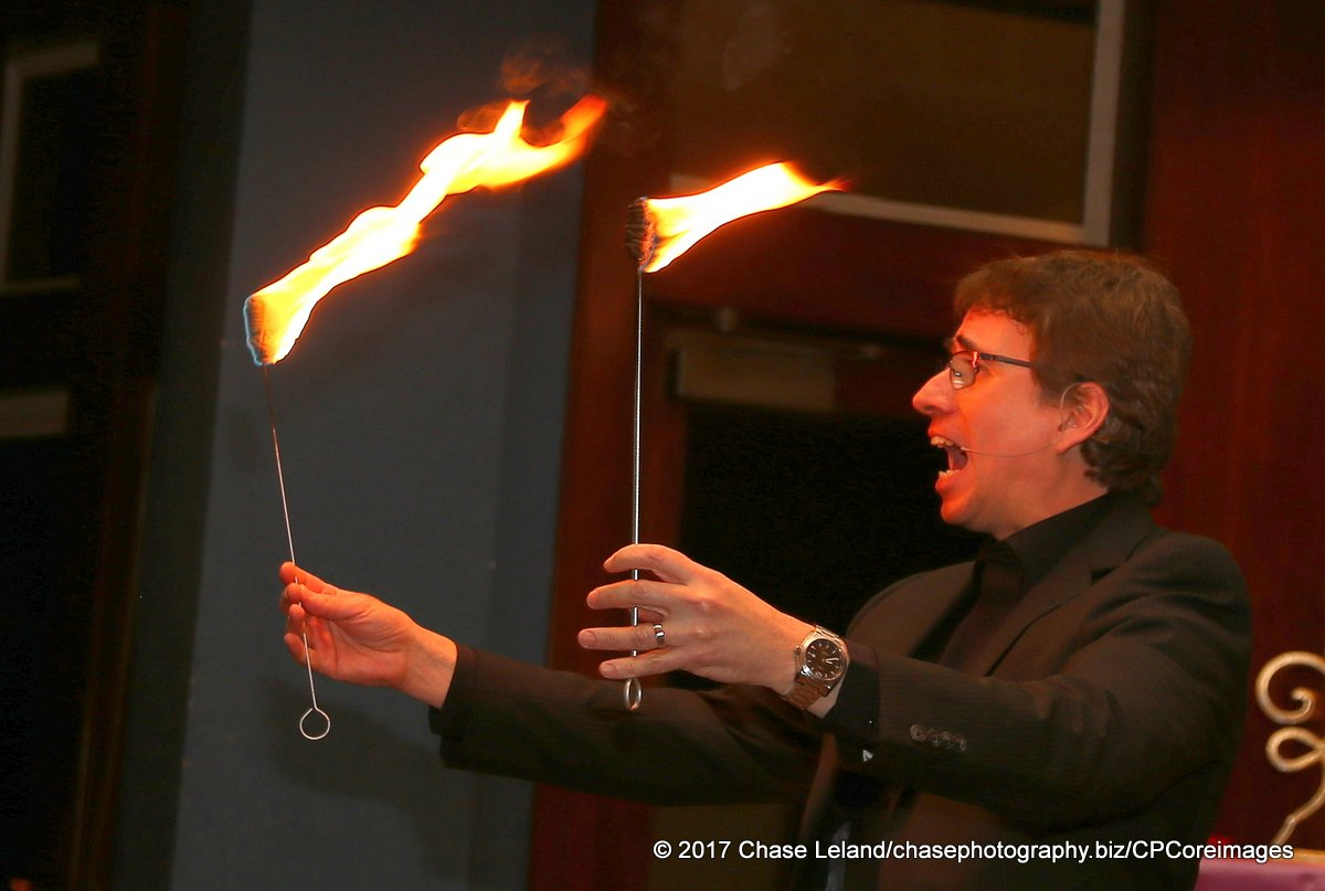 Lou Serrano with Torches.JPG