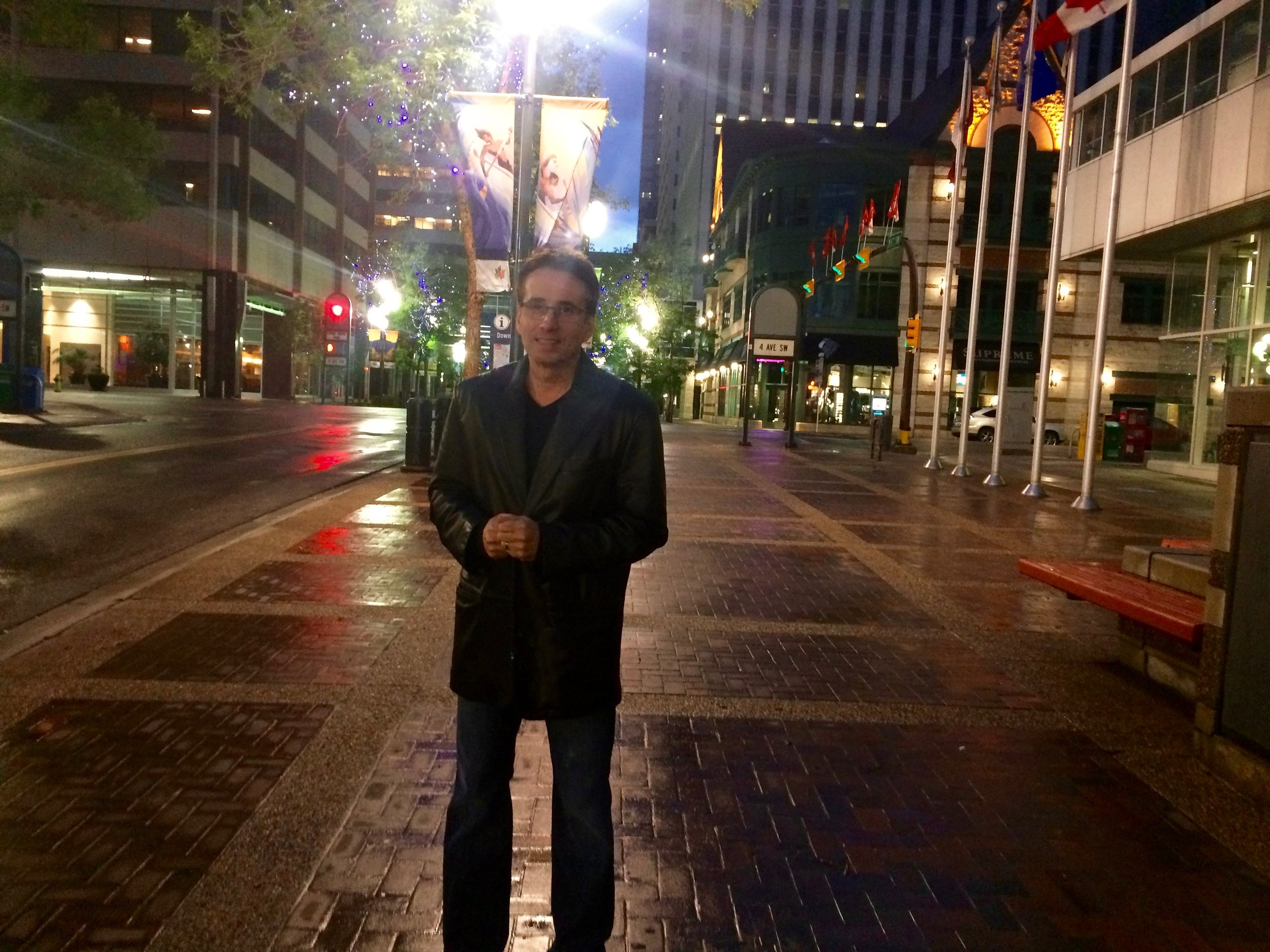 Lou Serrano in Downtown Calgary