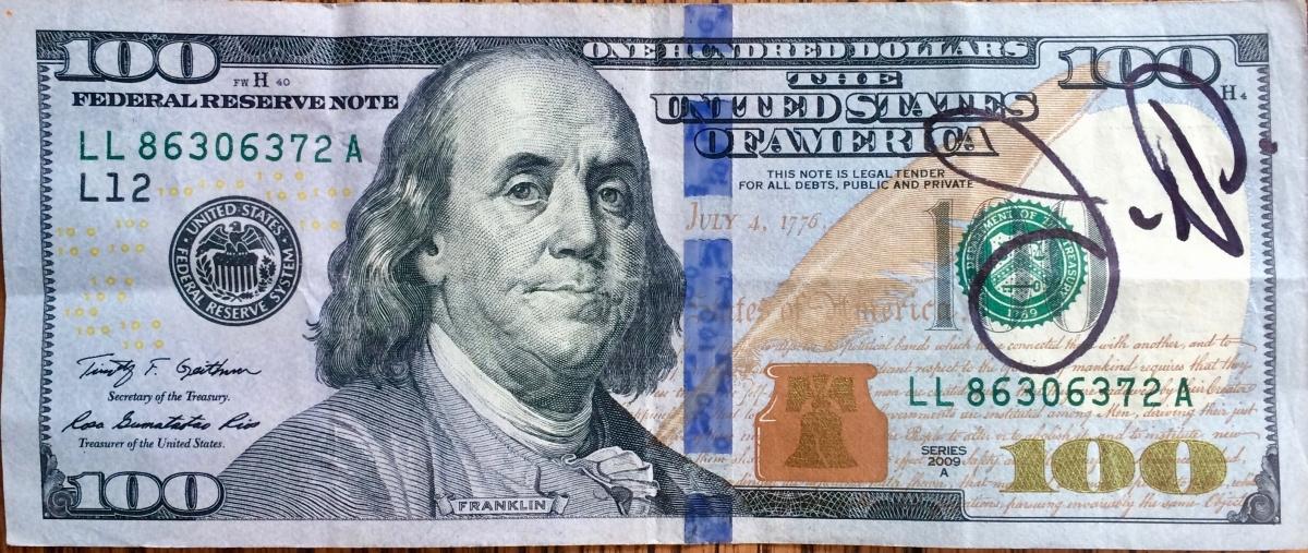 Joe Pesci initialed $100 bill.jpg