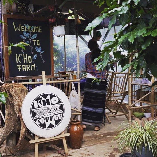 K'Ho Coffee bên trong nông trại K'Ho, phía sau xưởng rang K'Ho
