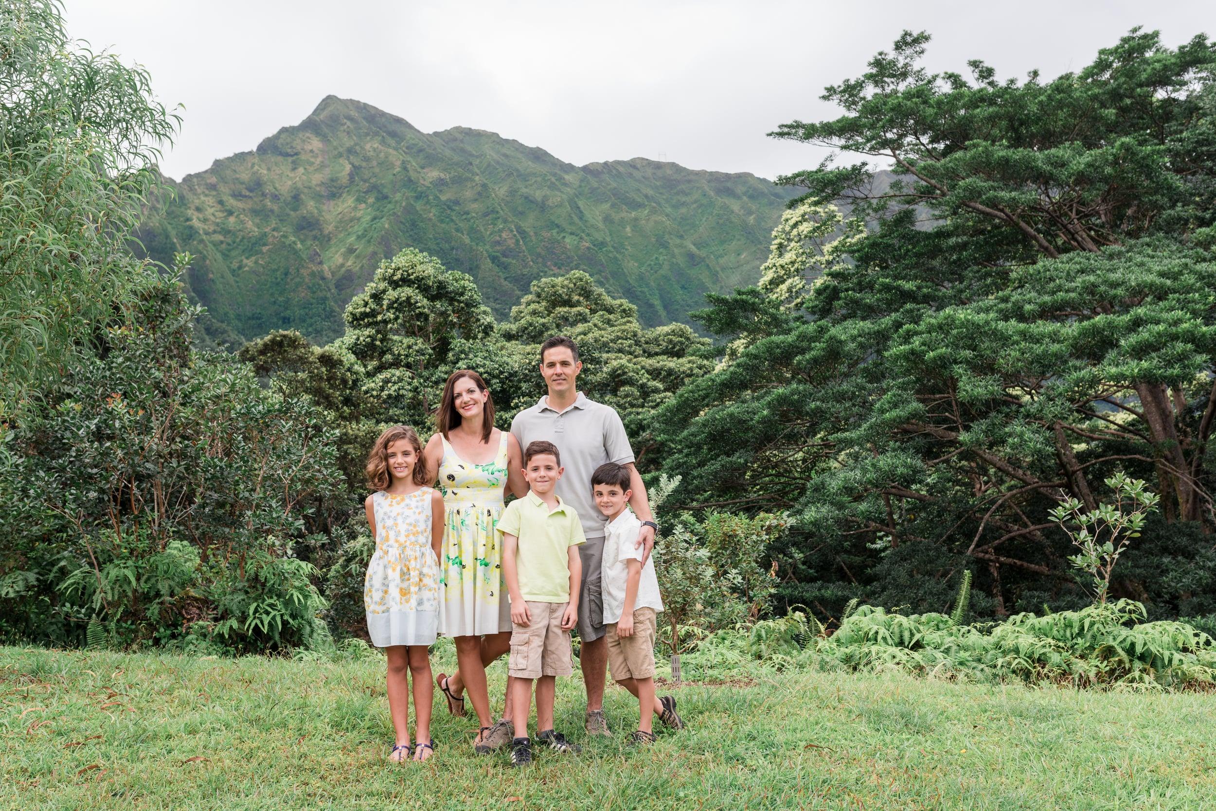 Oahu Family Photographer - Family portrait session