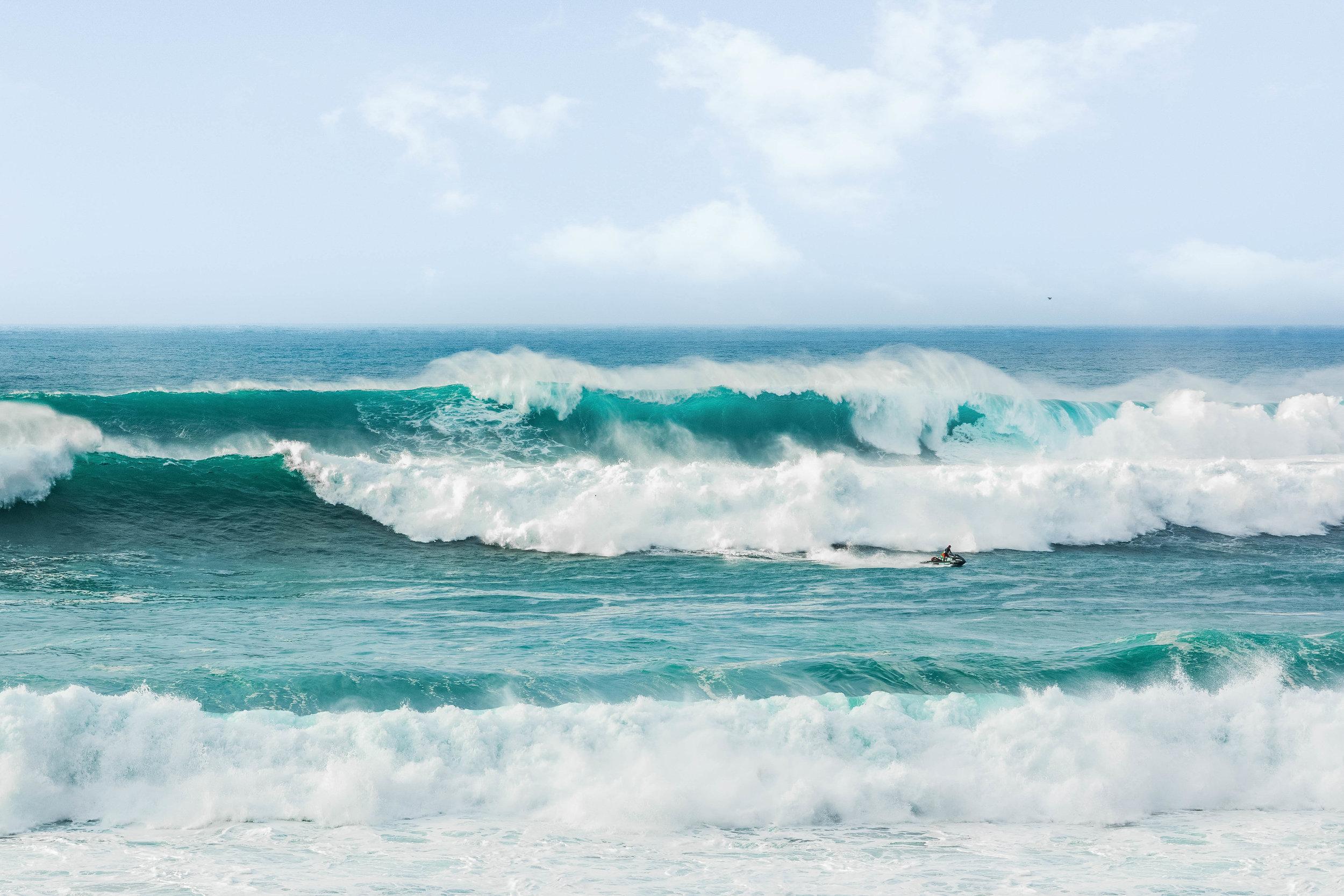 Waimea Bay, Oahu's North Shore, - Big Wave Day, 2016