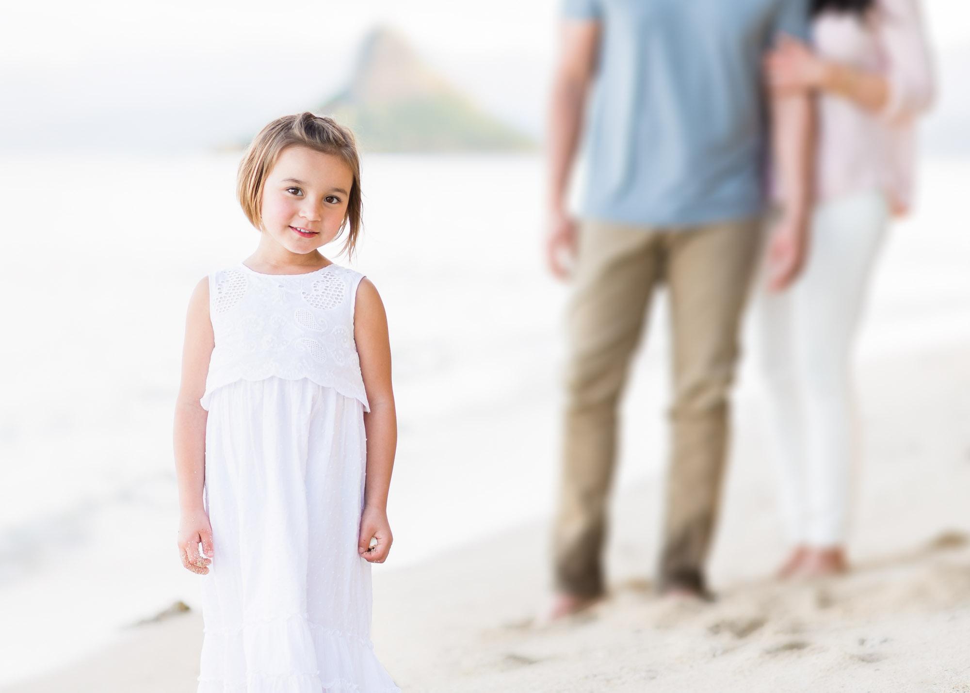Oahu Child Photographer | Girl Beach Portrait
