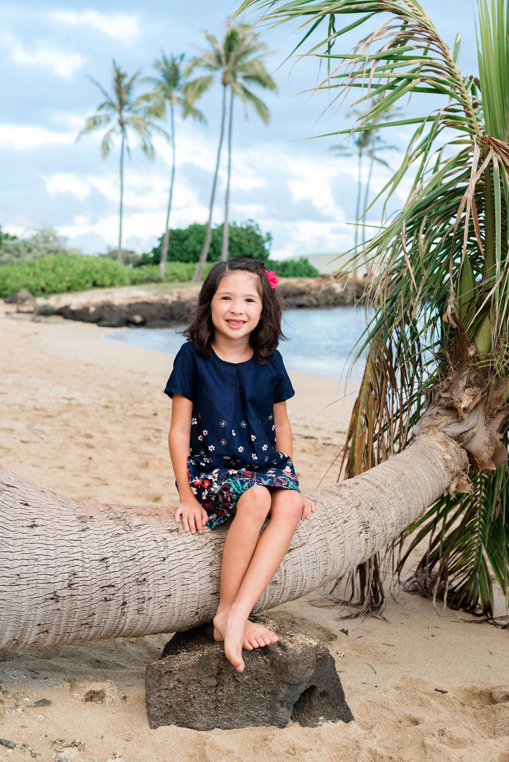 Oahu Child Photographers | Girl Beach Portrait Session