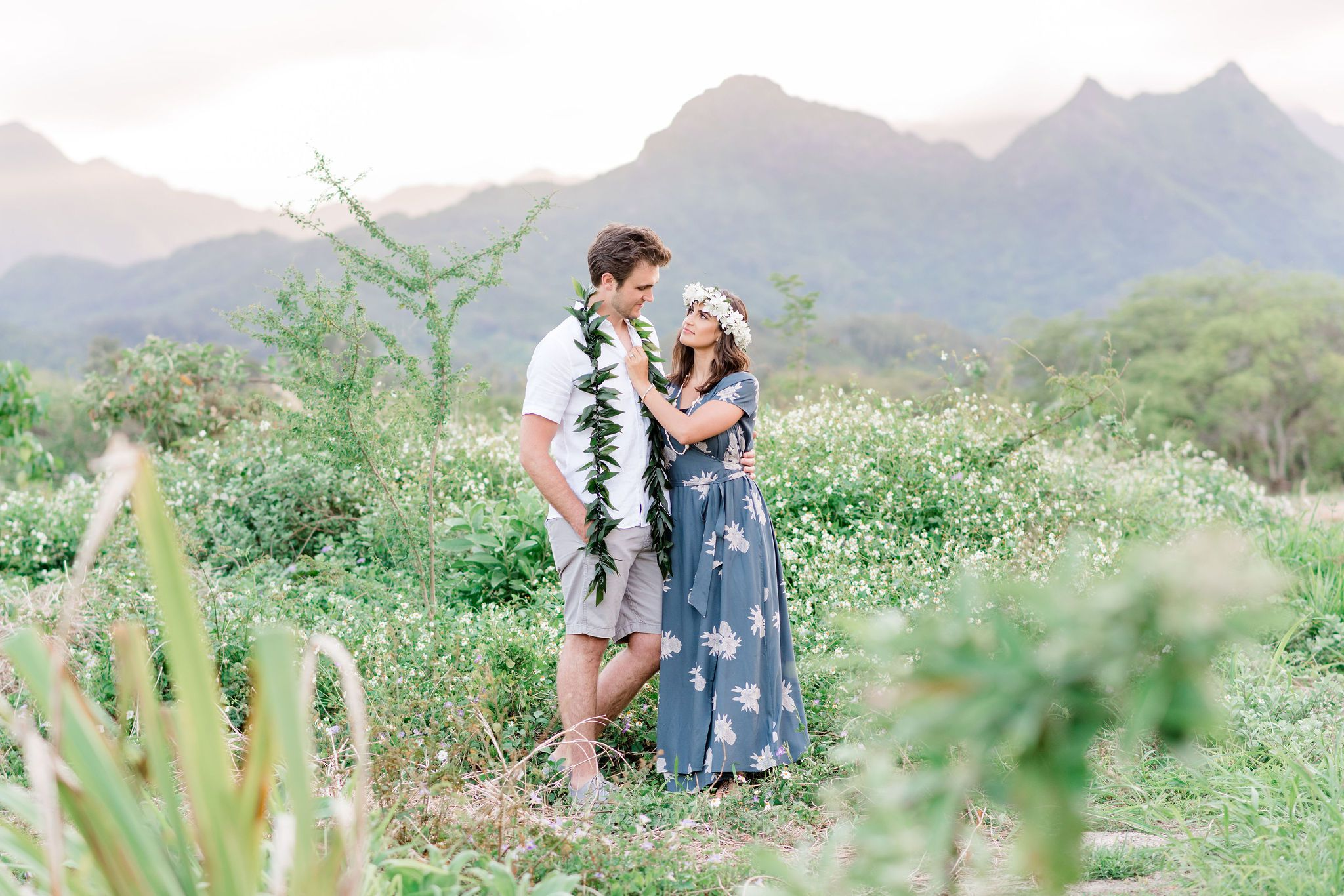 Honolulu Couples Photographer | Mountain and Beach Couples Portraits