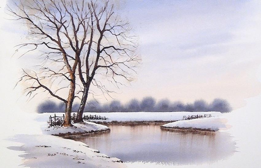 SIMPLE SNOW SCENE