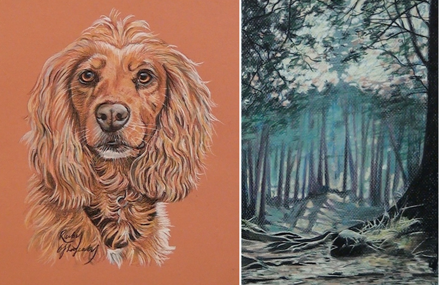 RUBY THE SPANIEL / WOODLAND LIGHT