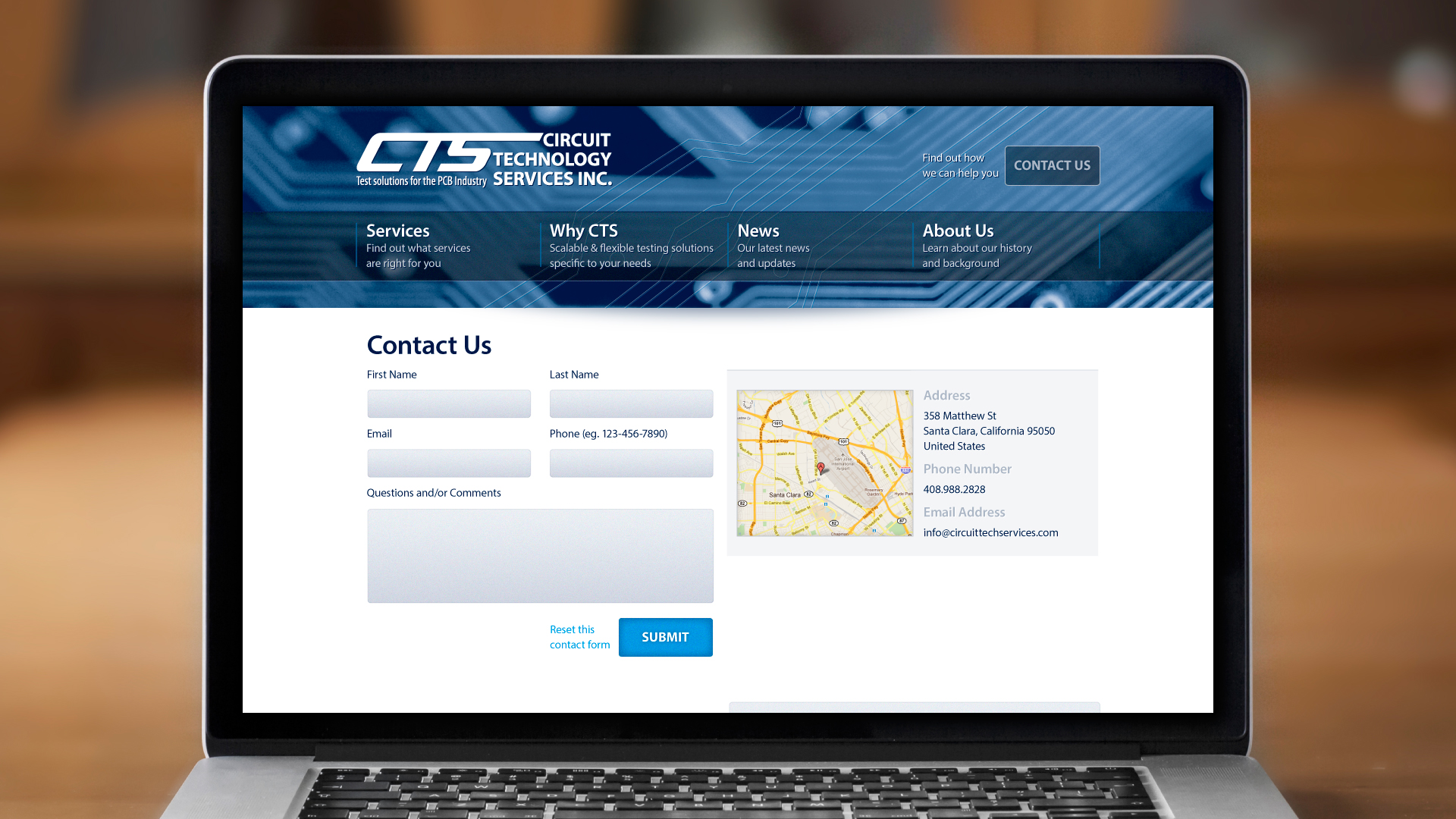 Web – Contact Us
