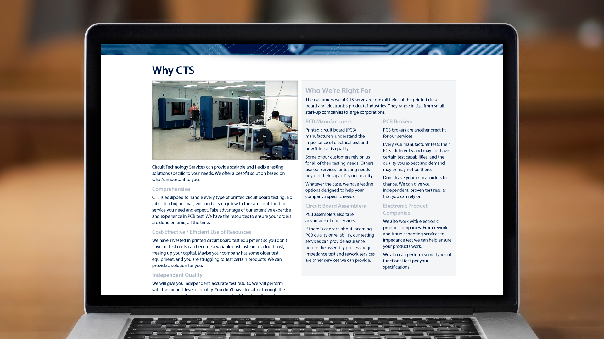 Web – Why CTS