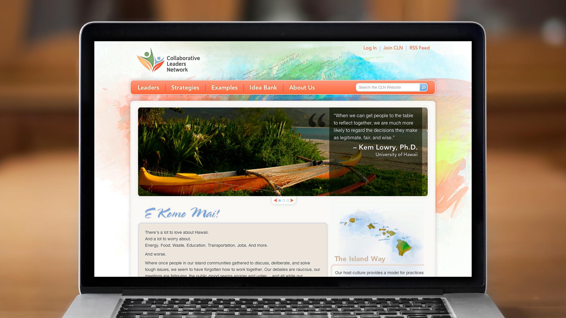 Web – Homepage (Top)