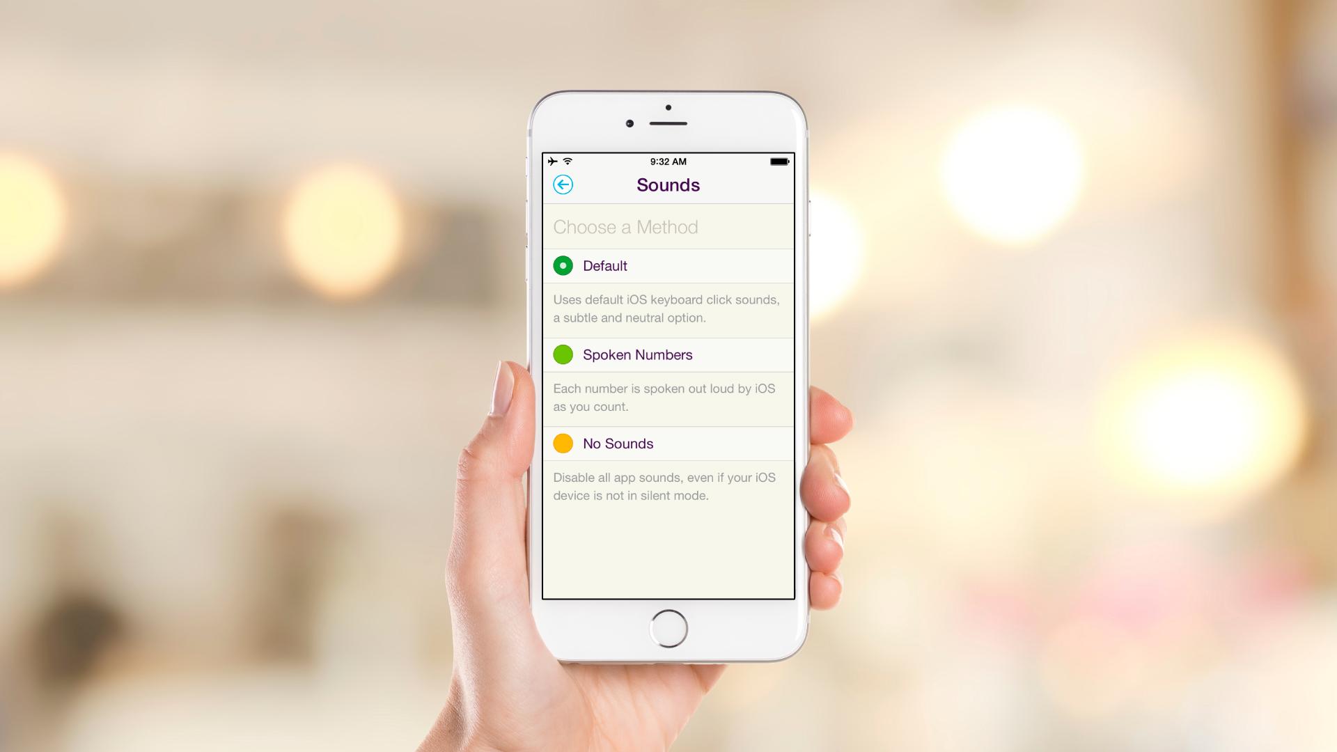 iOS App – Settings – Sounds