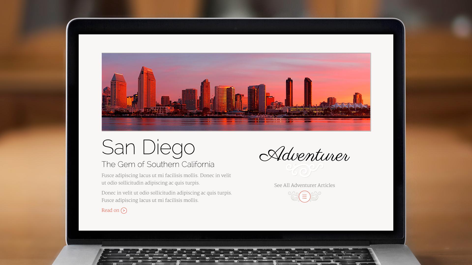 Web – Homepage (Adventurer)