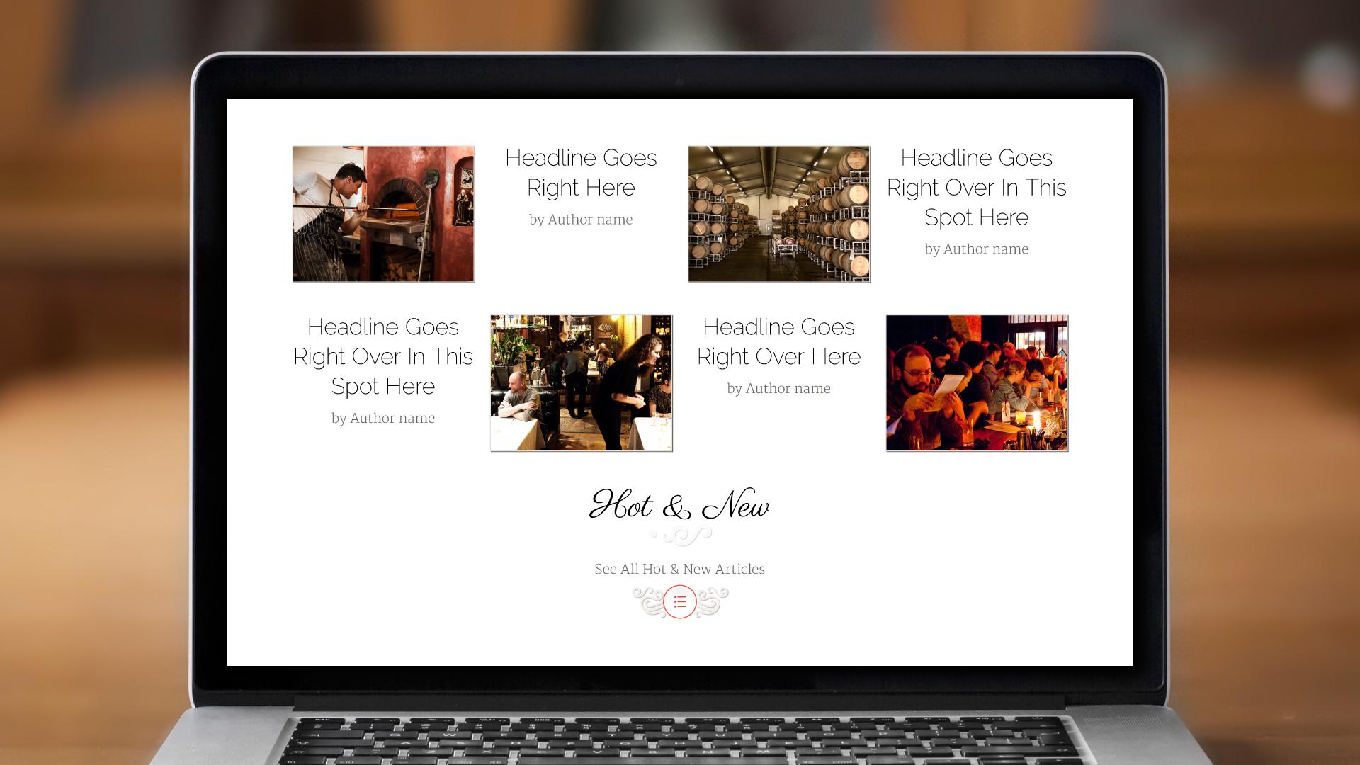 Web – Homepage (Hot & New)