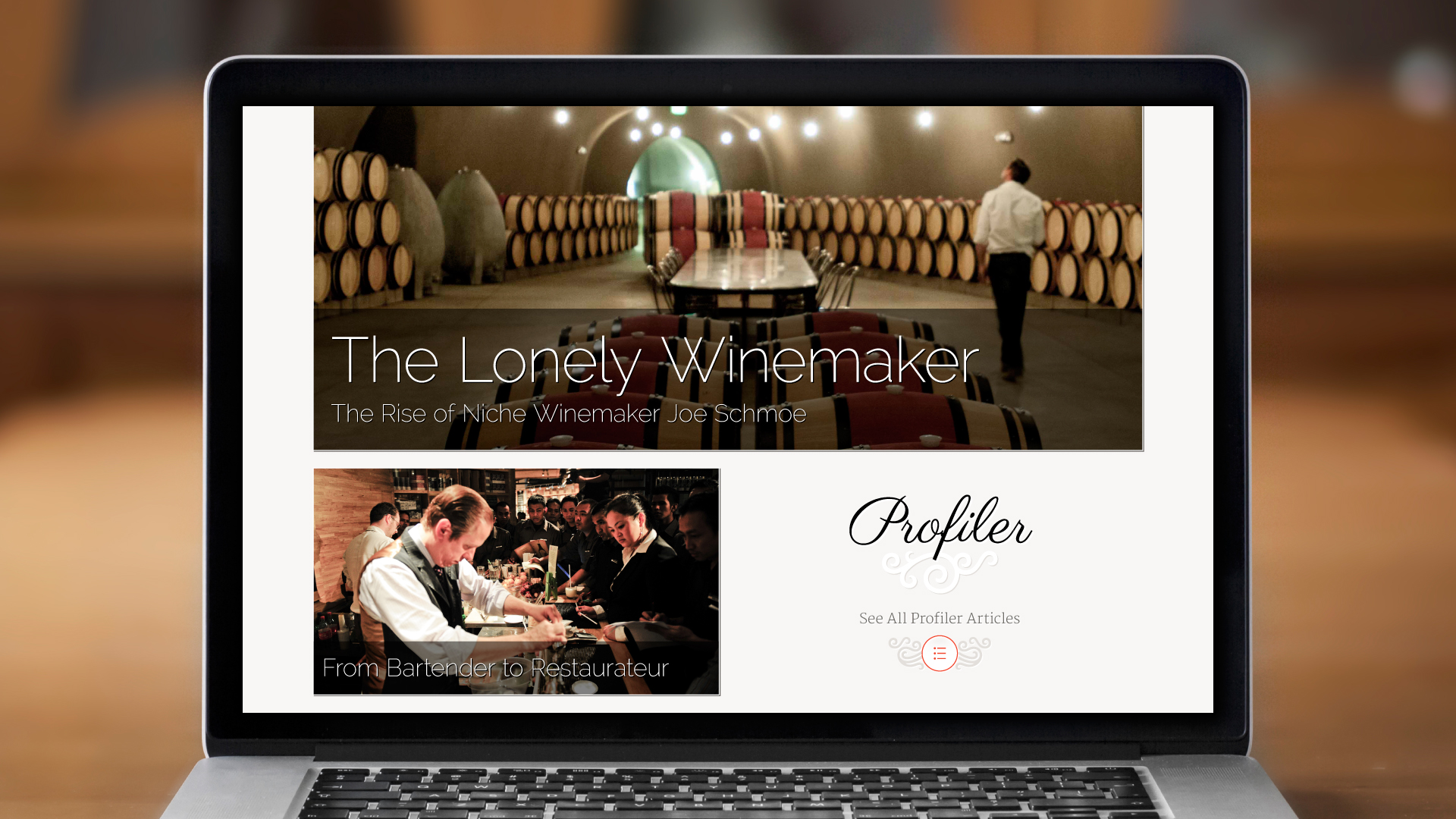 Web – Homepage (Profiler)