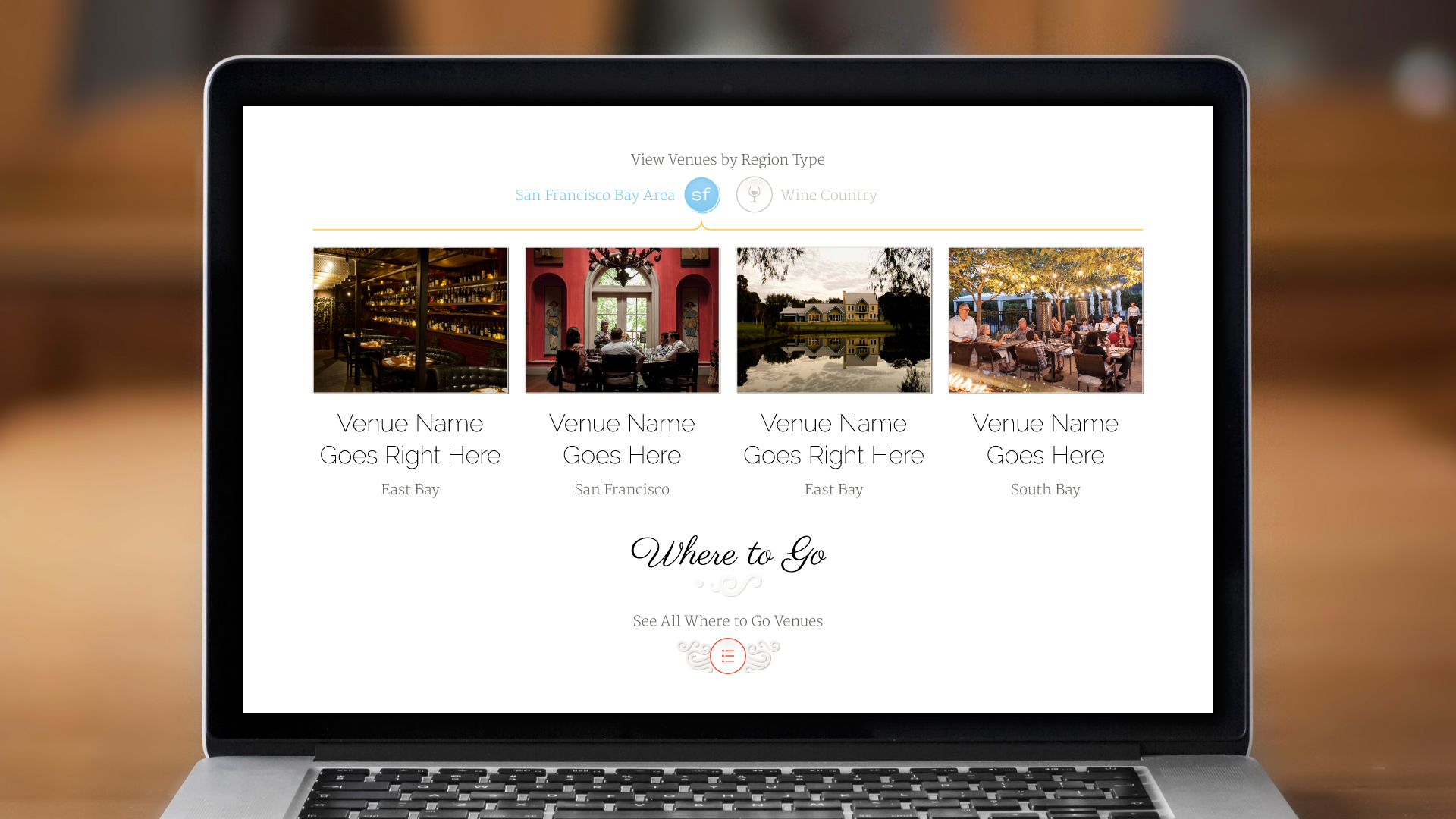 Web – Homepage (Where to Go)