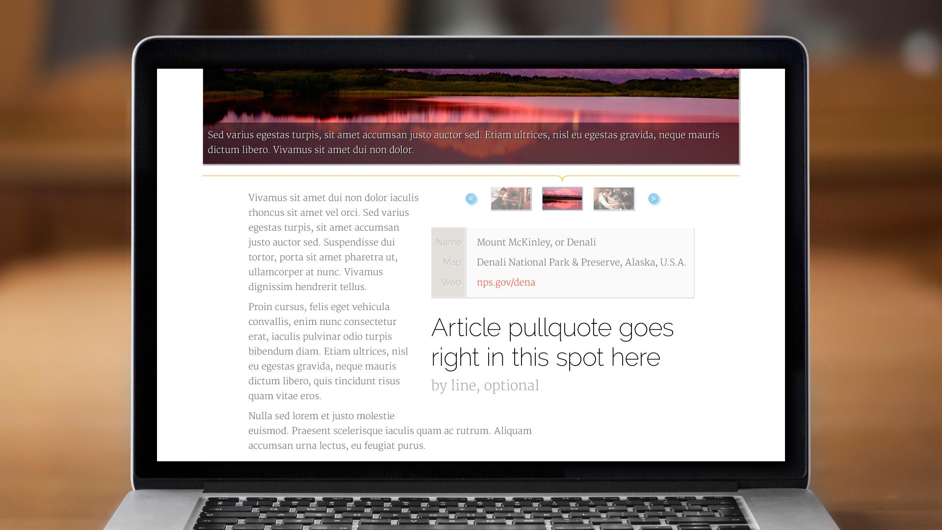 Web – Adventurer Article Page