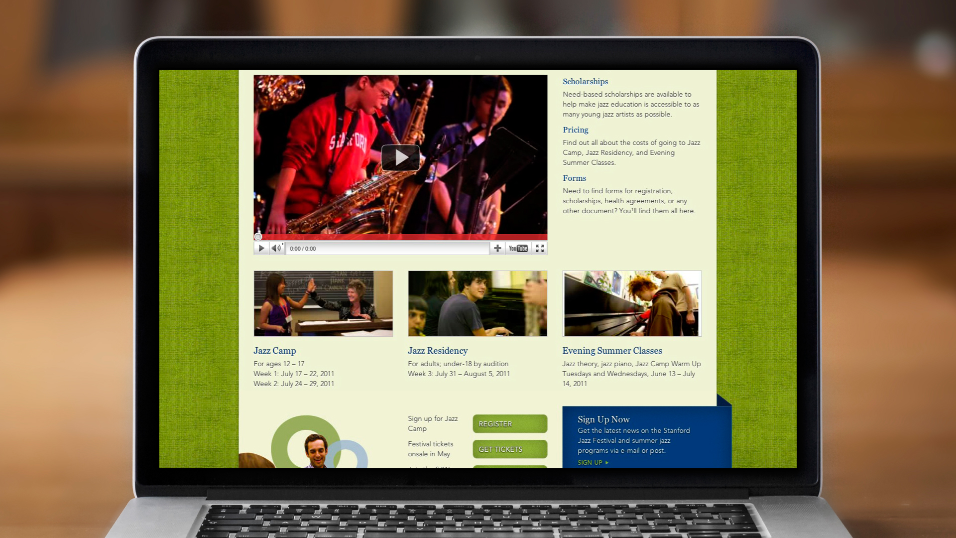 Web – Jazz Camp & Residency
