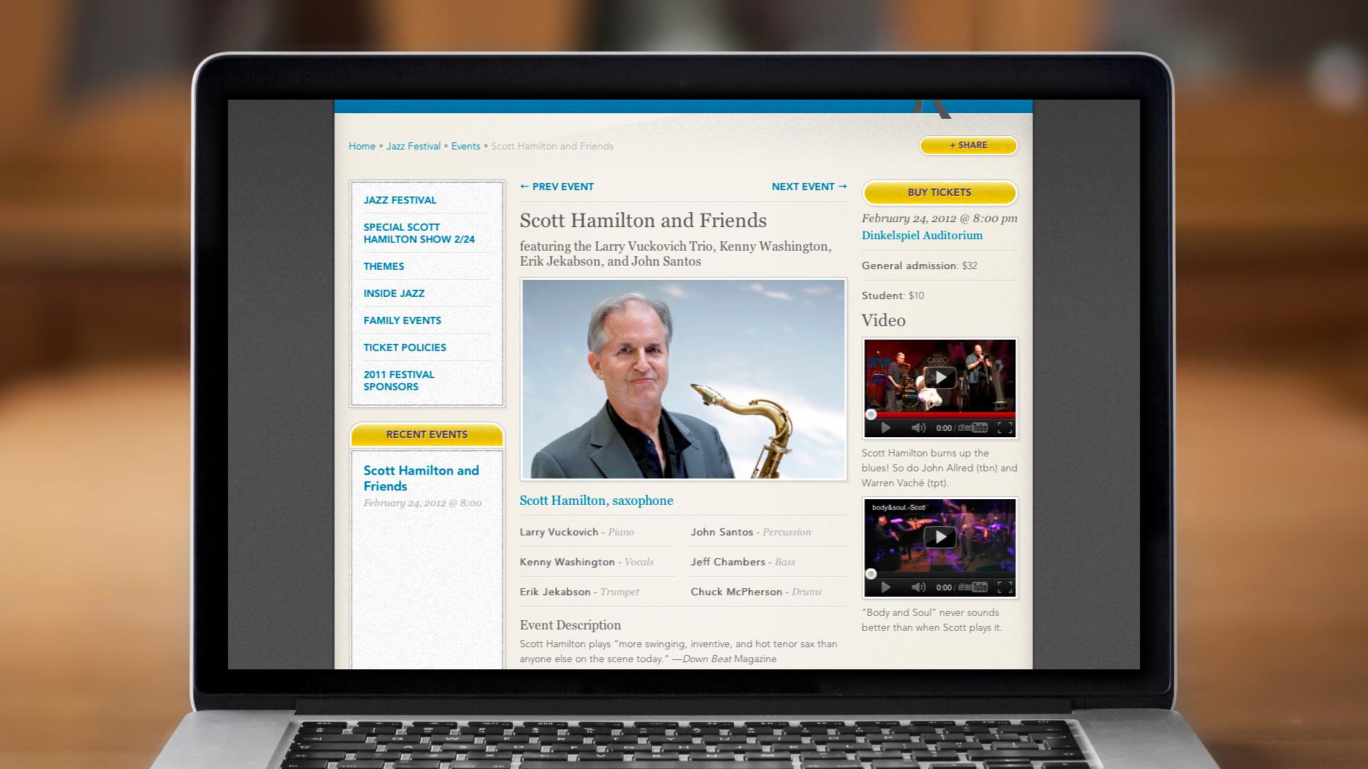 Web – Festival – Event Page