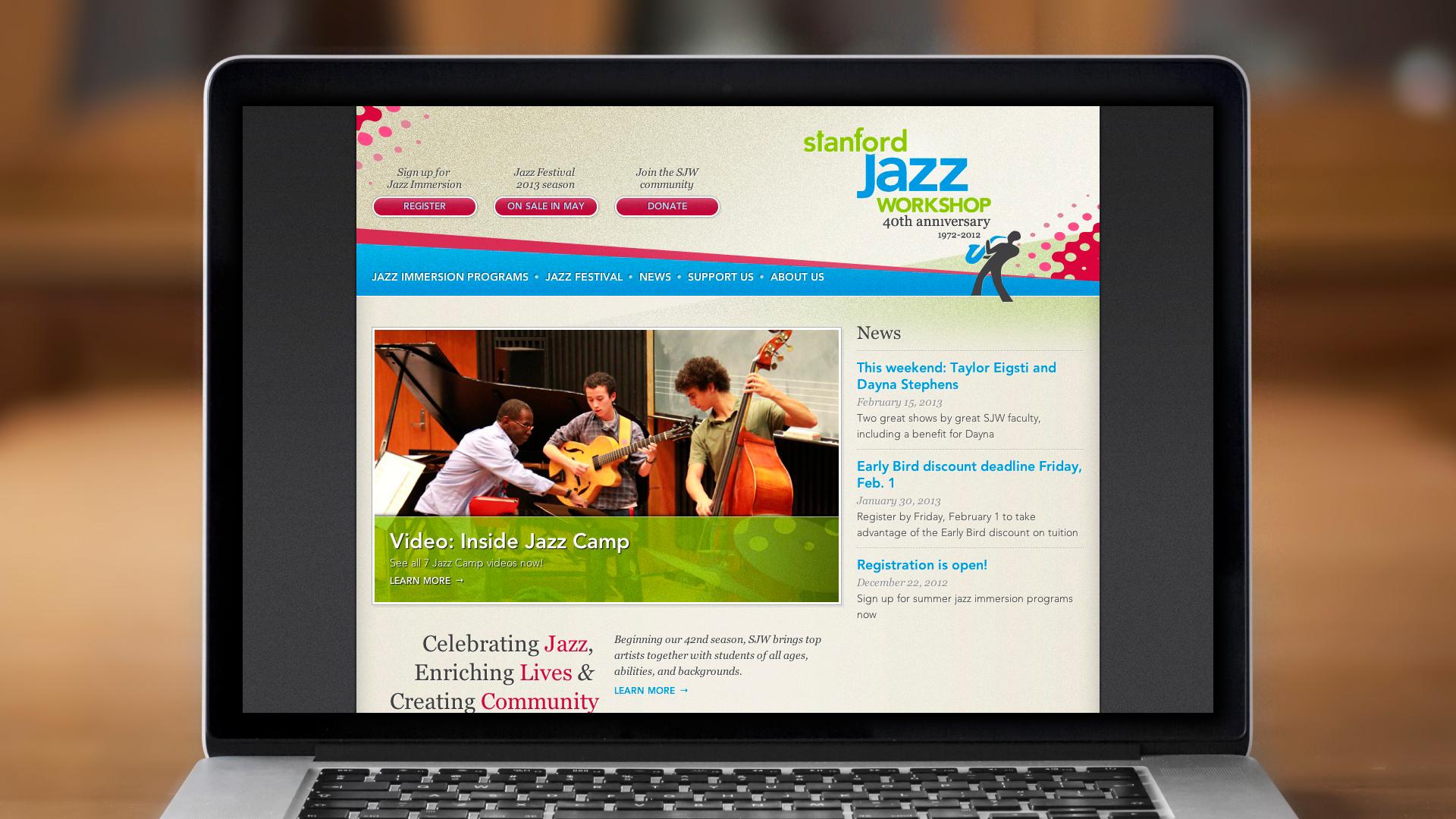 Web – Workshop – Homepage (Top)