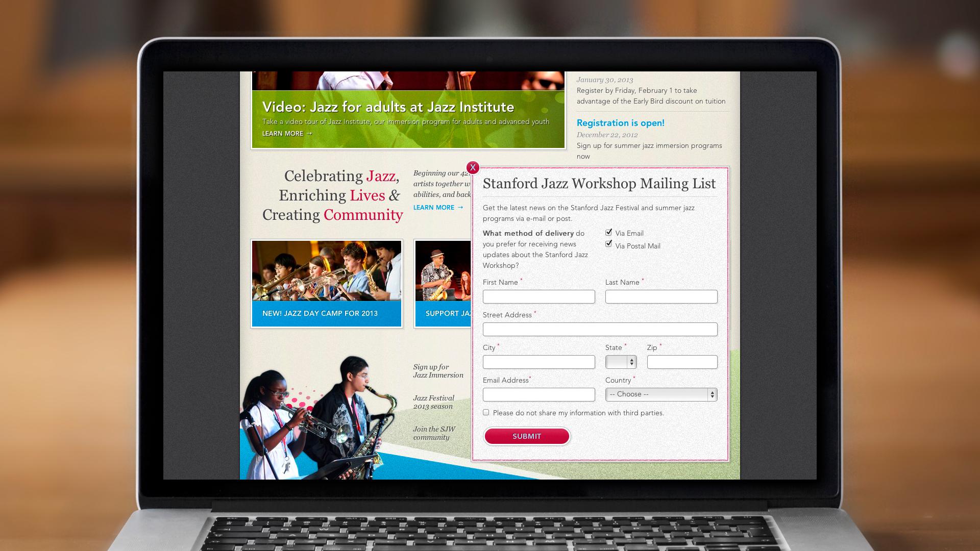 Web – Workshop – Homepage (Mailing List)