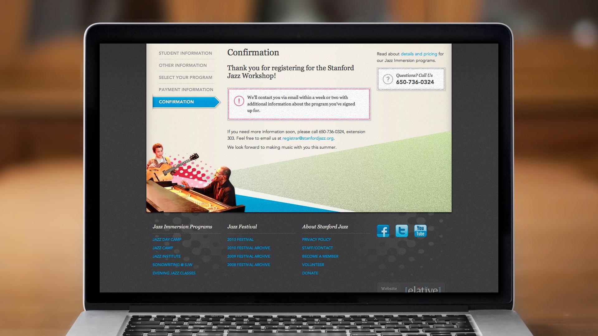 Web – Registration – Step 5, Confirmation