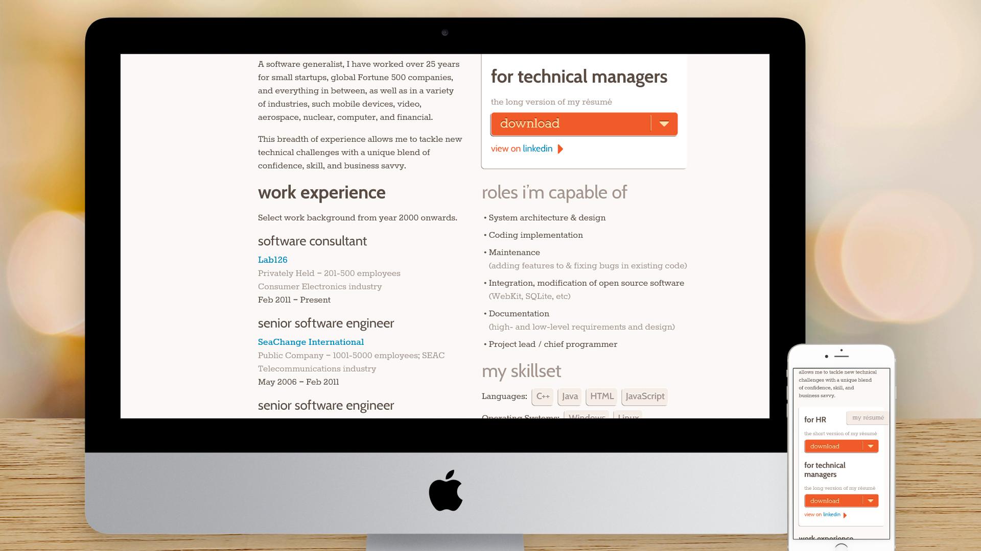 Responsive Website – What I Do