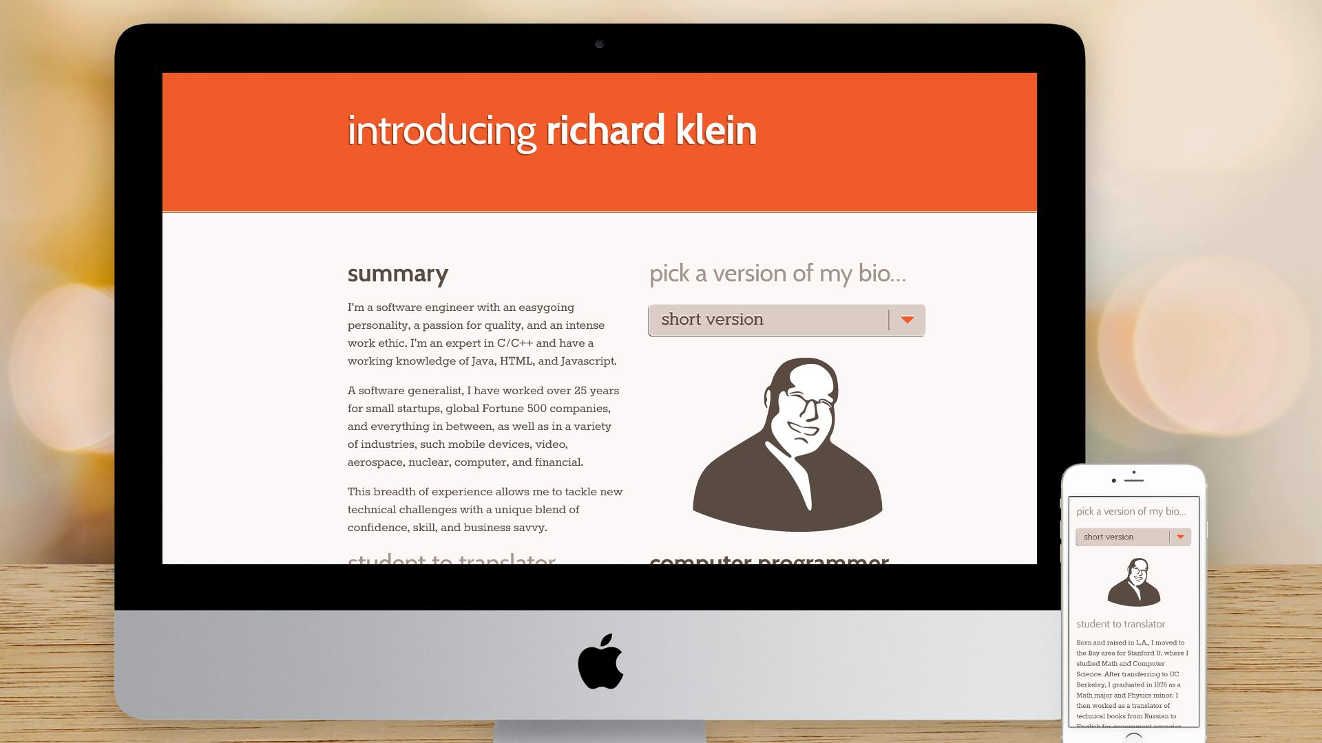 Responsive Website – About Me (Short)