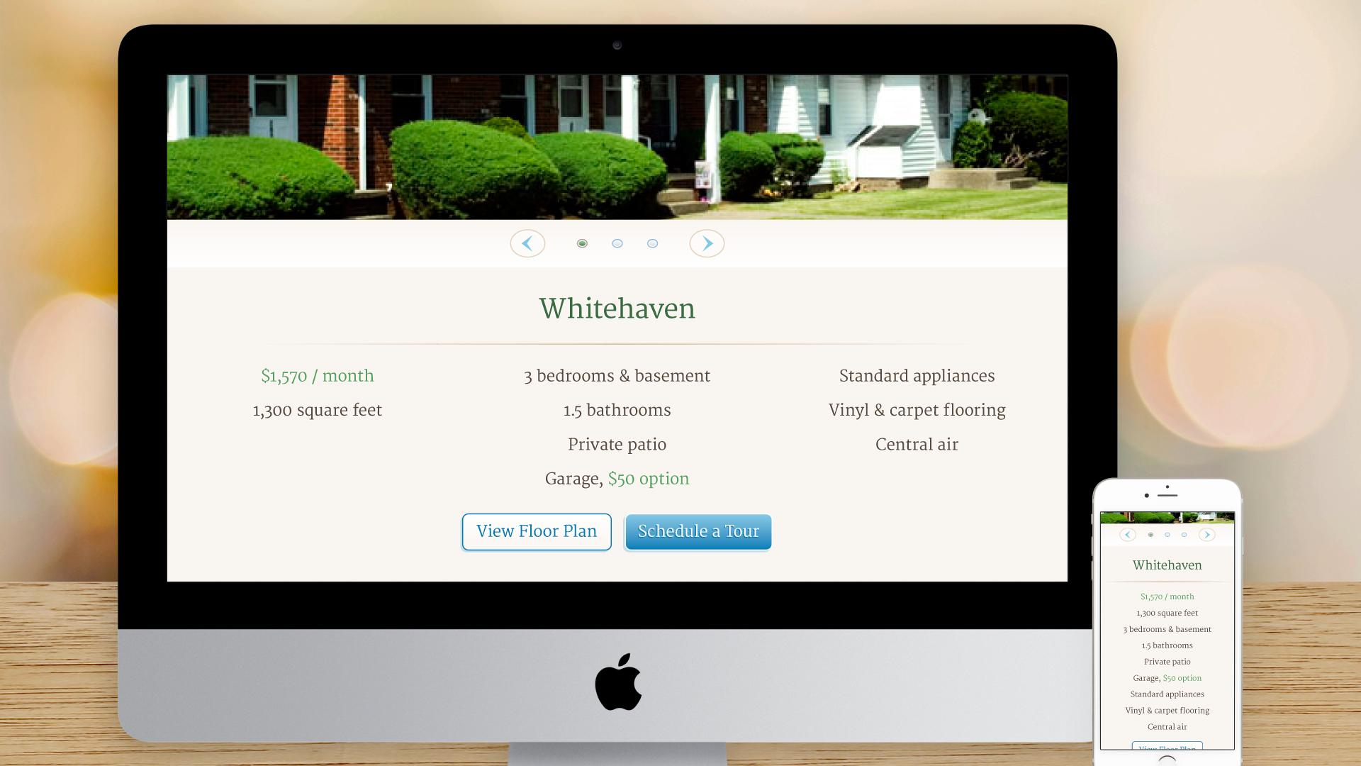 Responsive Website – Housing (Townhouses)