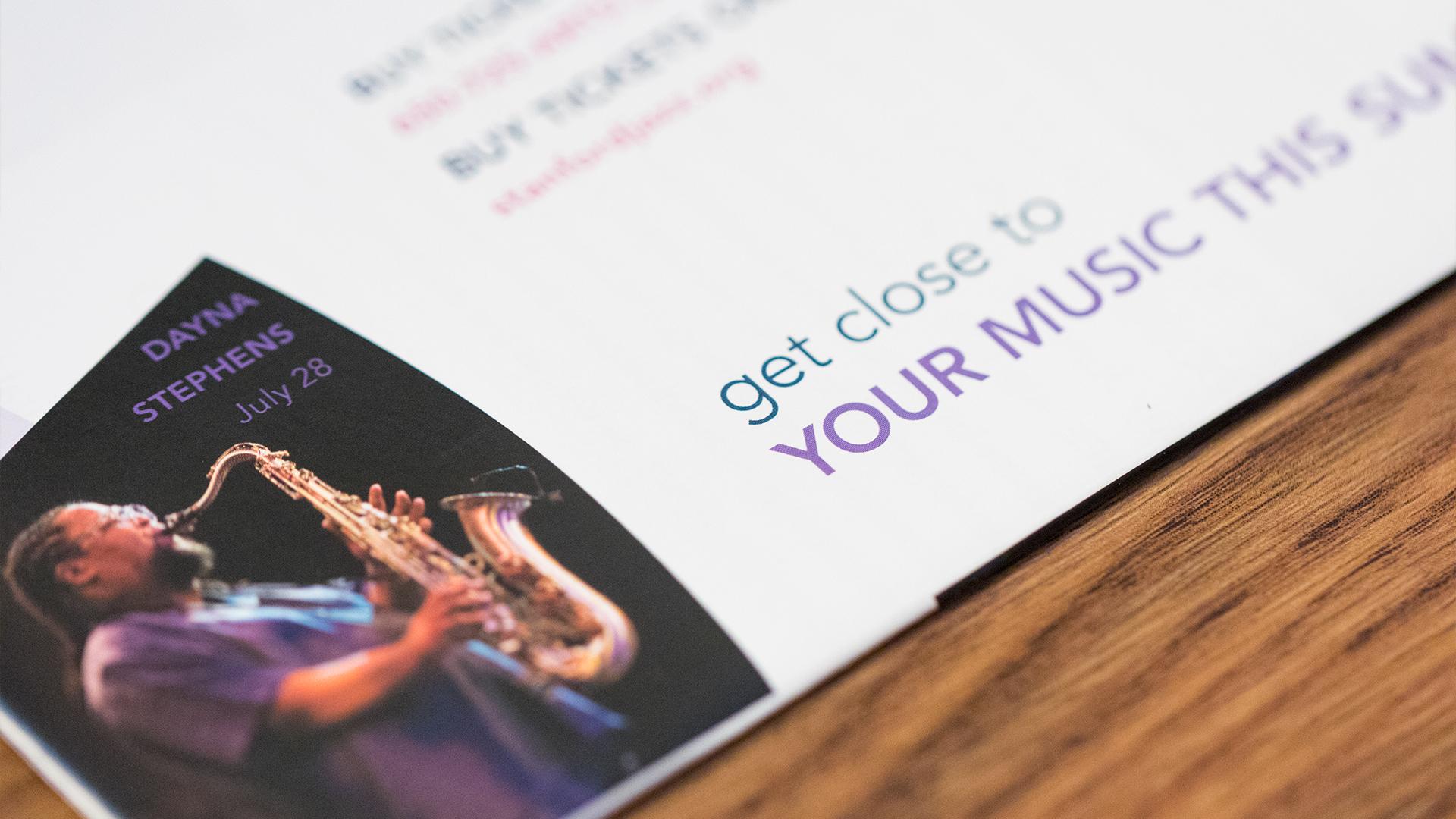 Print – Festival Mailer (Dayna Stephens Close-Up)