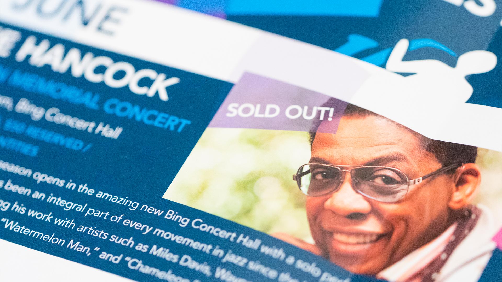 Print – Festival Mailer – Poster Side (Herbie Hancock Close-Up)