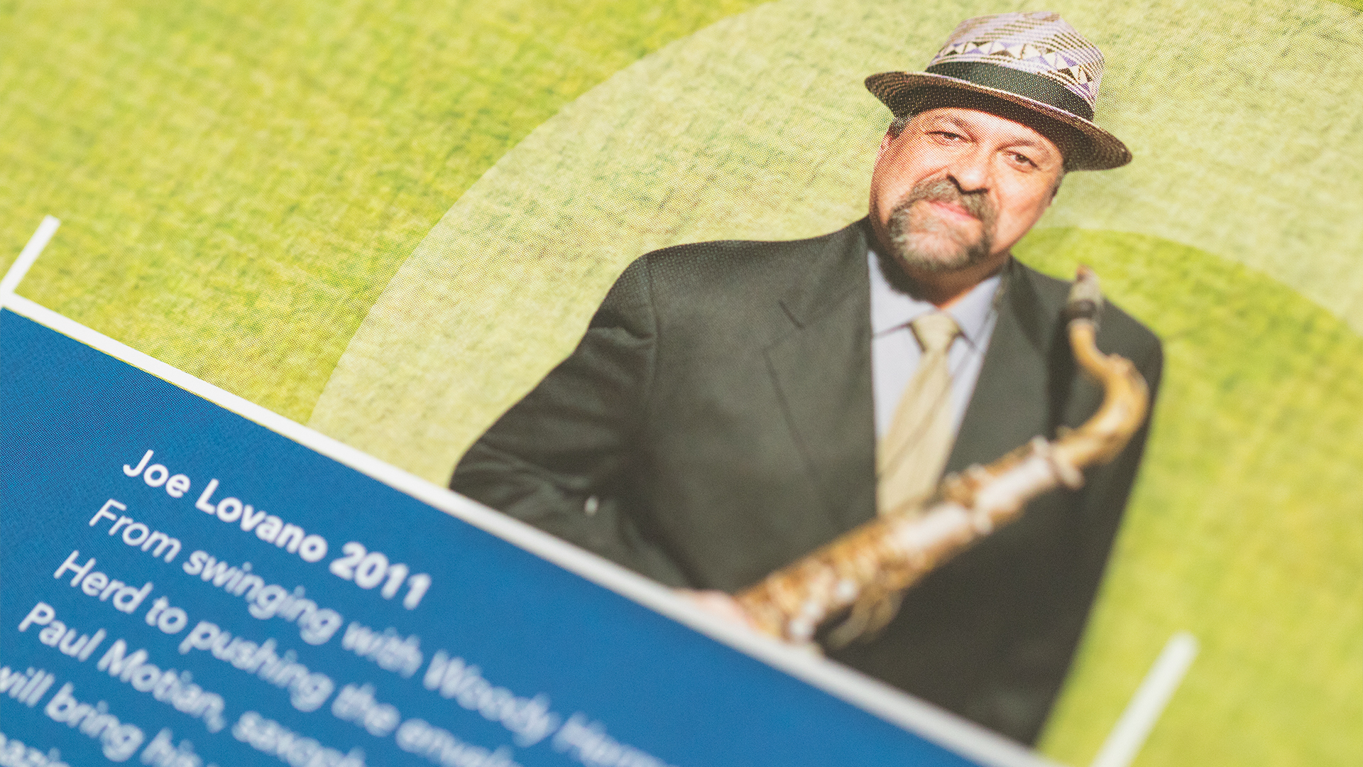 Print – Workshop Mailer – Poster Side (Joe Lovano Close-Up)