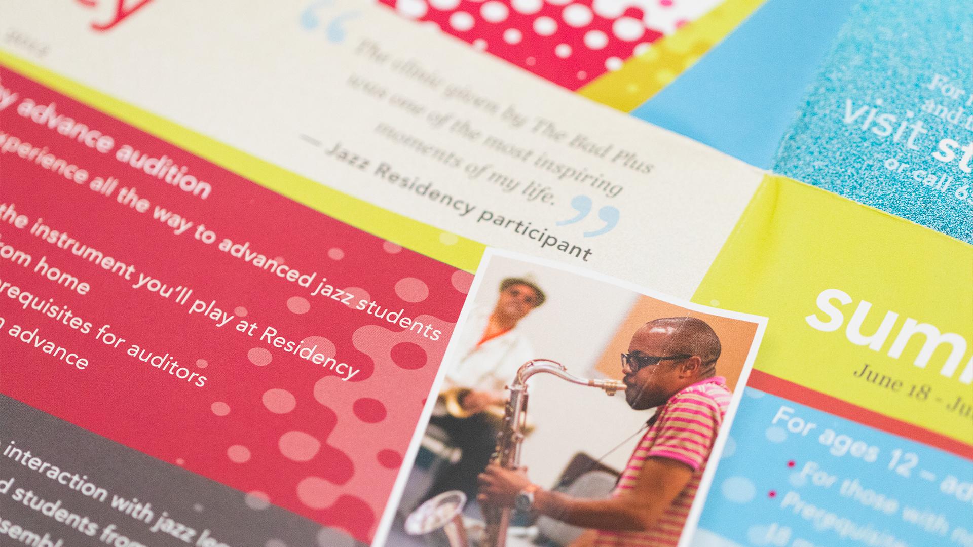 Print – Workshop Mailer – Panels Side (Jazz Residency Close-Up)