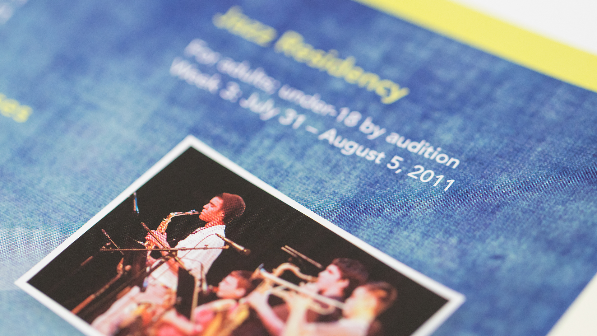 Print – Festival Mailer – Panel Side (Jazz Residency Close-Up)