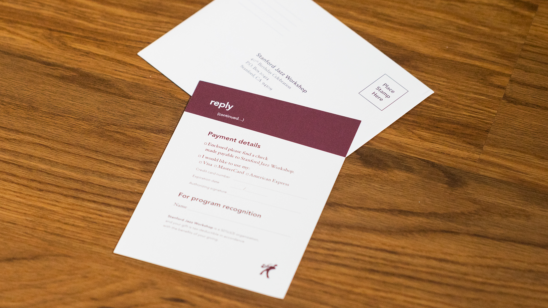 Print – Invitation Packet – Reply Card (Back)