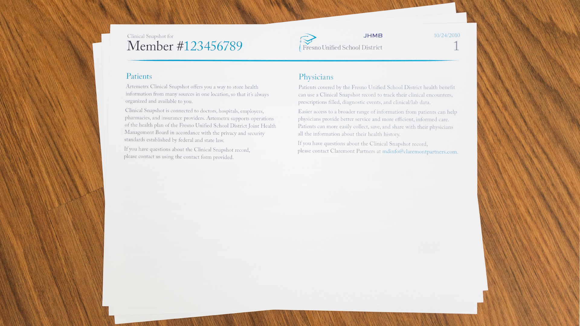 Print – Health Report Template – Page 1