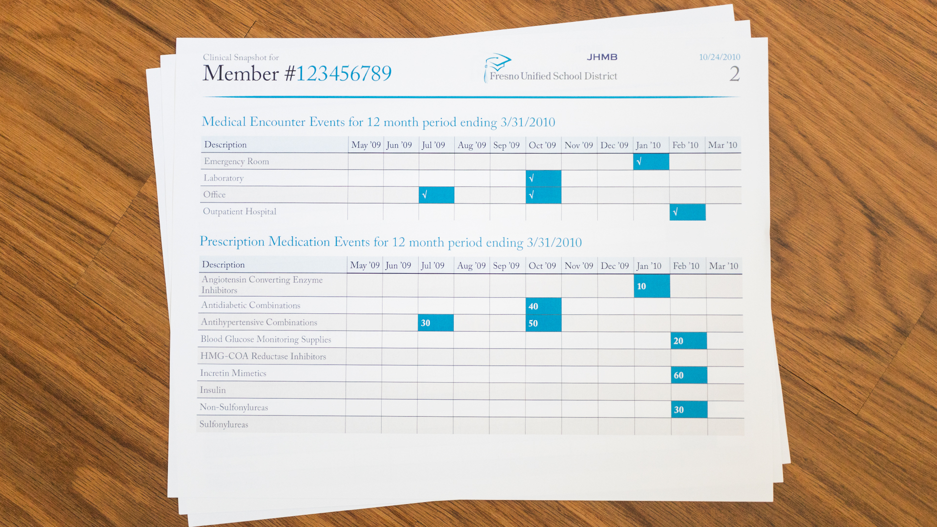 Print – Health Report Template – Page 2 (Chart Close-Up)